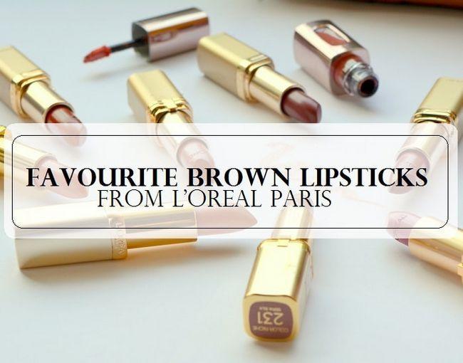 10 Die besten Nackt braune Lippenstifte für indische Haut von L`Oréal Paris