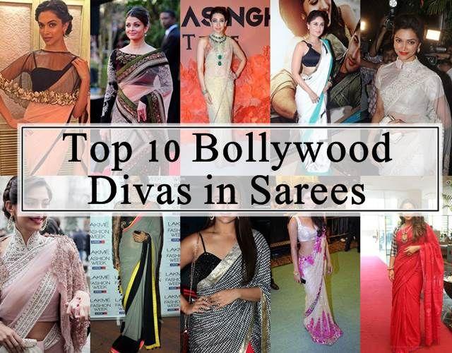 10 Bollywood Schauspielerinnen in ihren besten Saris