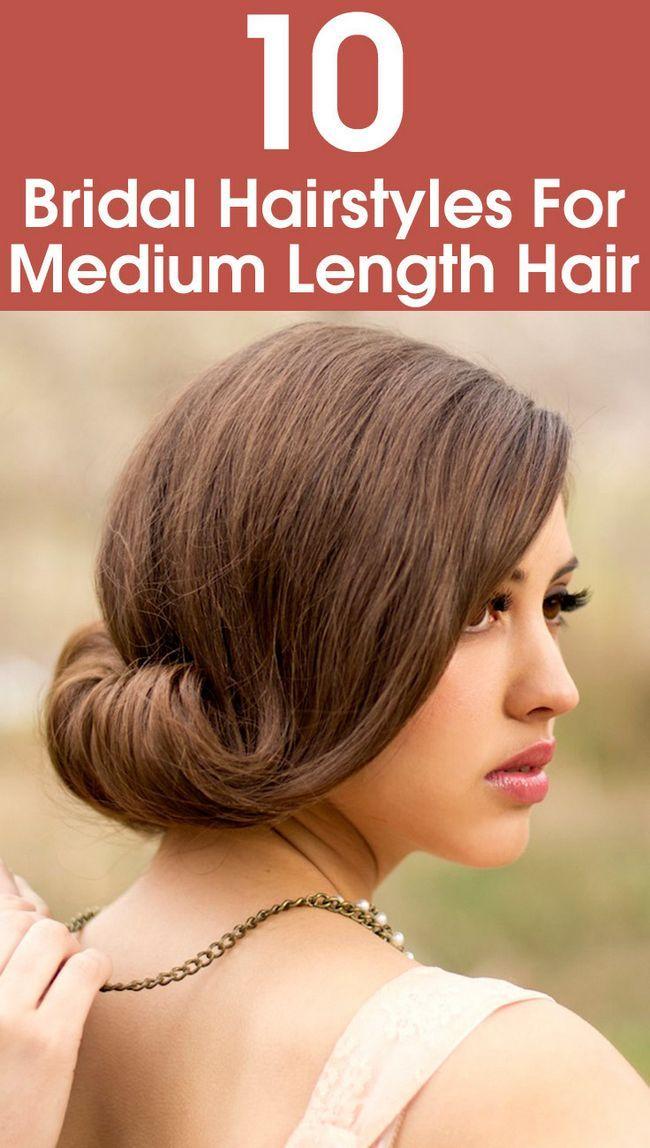 10 Brautfrisuren für mittellanges Haar