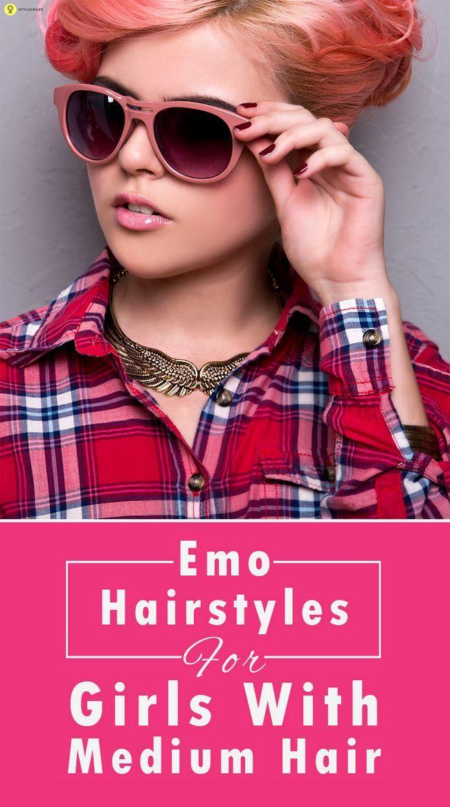 10 Emo Frisuren für Mädchen mit mittlerem Haar