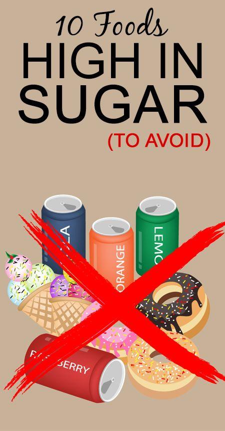 10 Nahrungsmittel mit hohem Zucker (zu vermeiden)