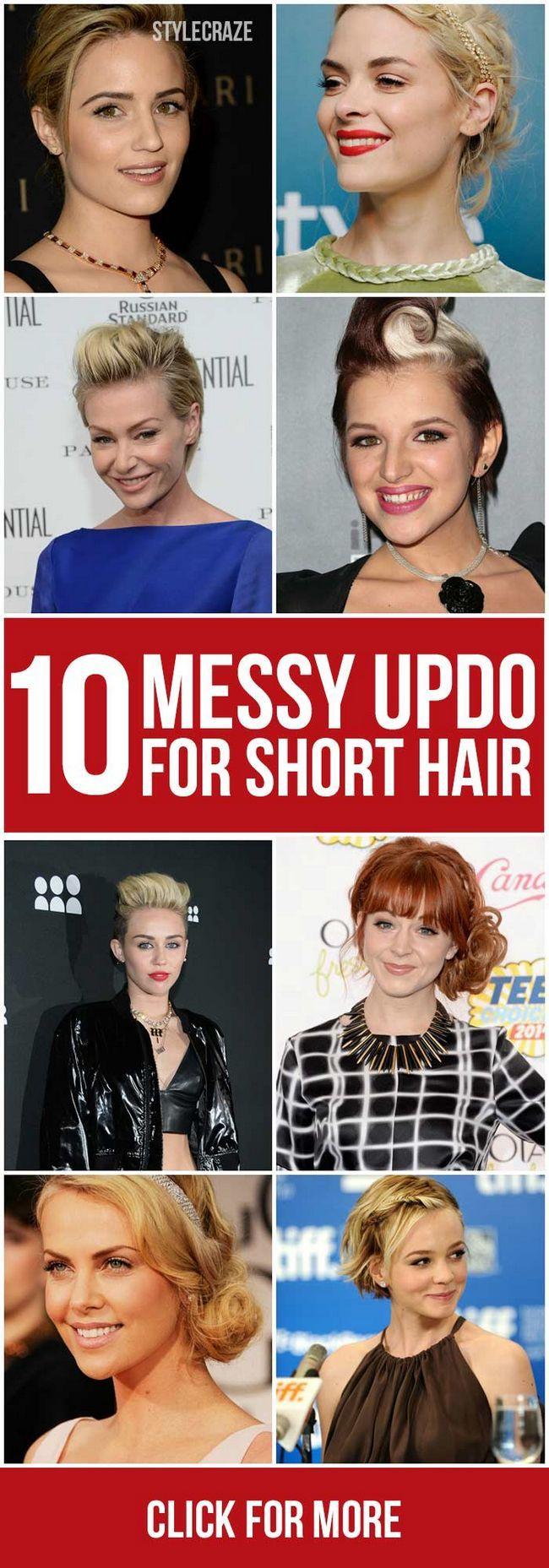 10 Messy updos für kurzes Haar