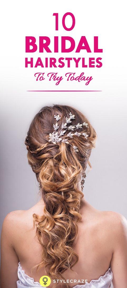 10 Neue Braut-Frisuren heute zu versuchen,
