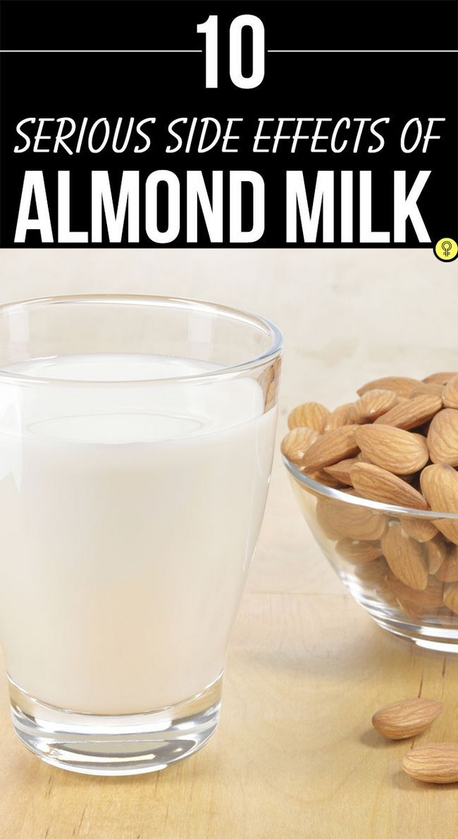 10 Schwerwiegende Nebenwirkungen von Mandelmilch