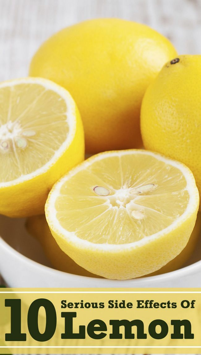 10 Schwerwiegende Nebenwirkungen von Zitronen