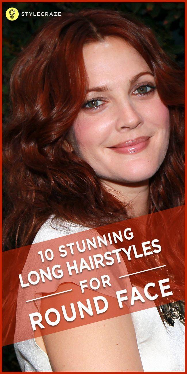 10 Erstaunliche lange Frisuren für runde Gesichter