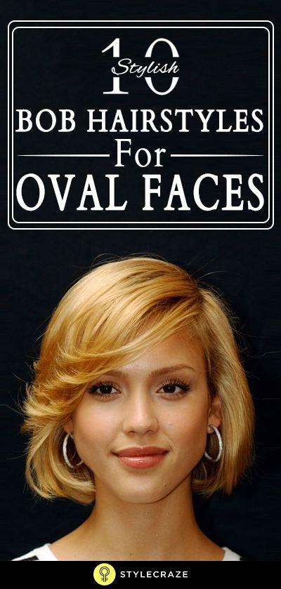 10 Stilvolle bob Frisuren für ovale Gesichter