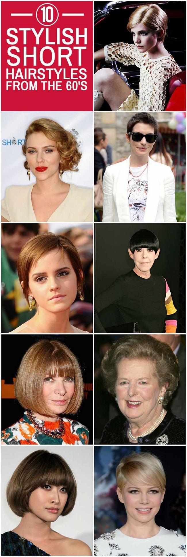 10 Stilvolle kurze Frisuren aus den 60er Jahren