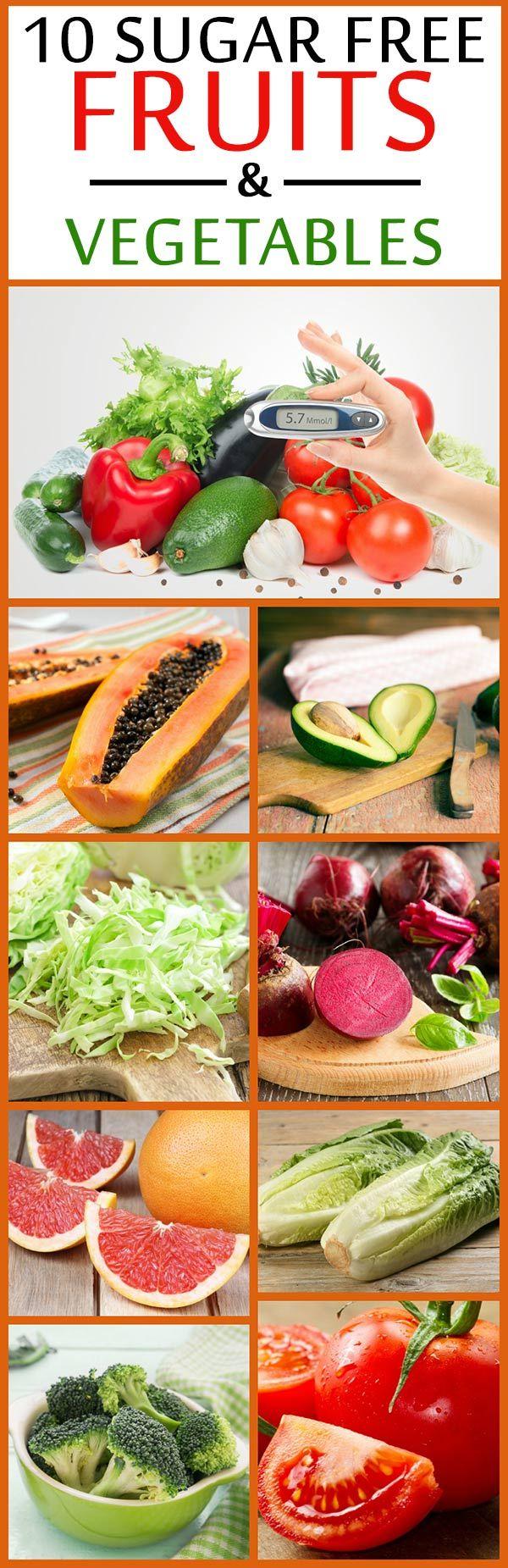 10 Zuckerfreie Obst und Gemüse