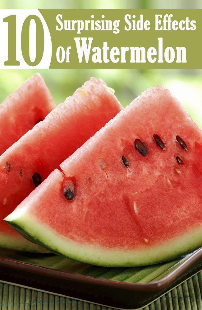 10 Überraschender Nebenwirkungen der Wassermelone