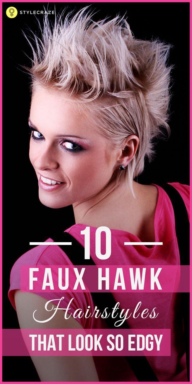 10 Trendy faux Habicht Frisuren Sie heute versuchen können,