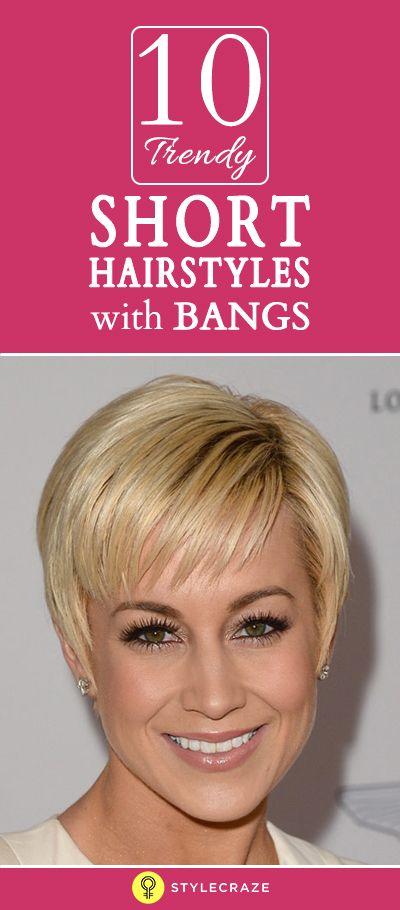 10 Trendy kurze Frisuren mit Pony