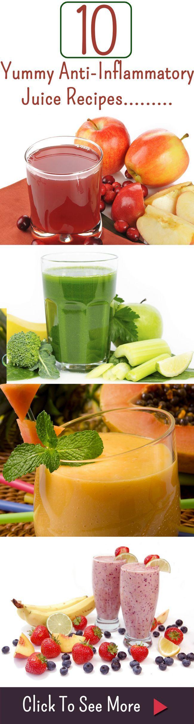 10 Yummy entzündungshemmende Saft Rezepte und deren Nutzen für die Gesundheit