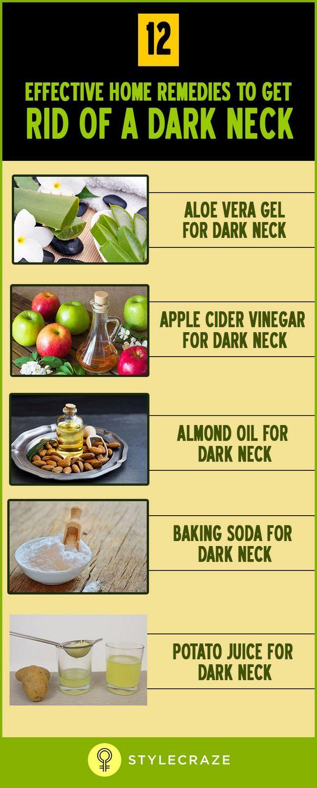 12 Wirksame Hausmittel, um loszuwerden, einer dunklen Hals