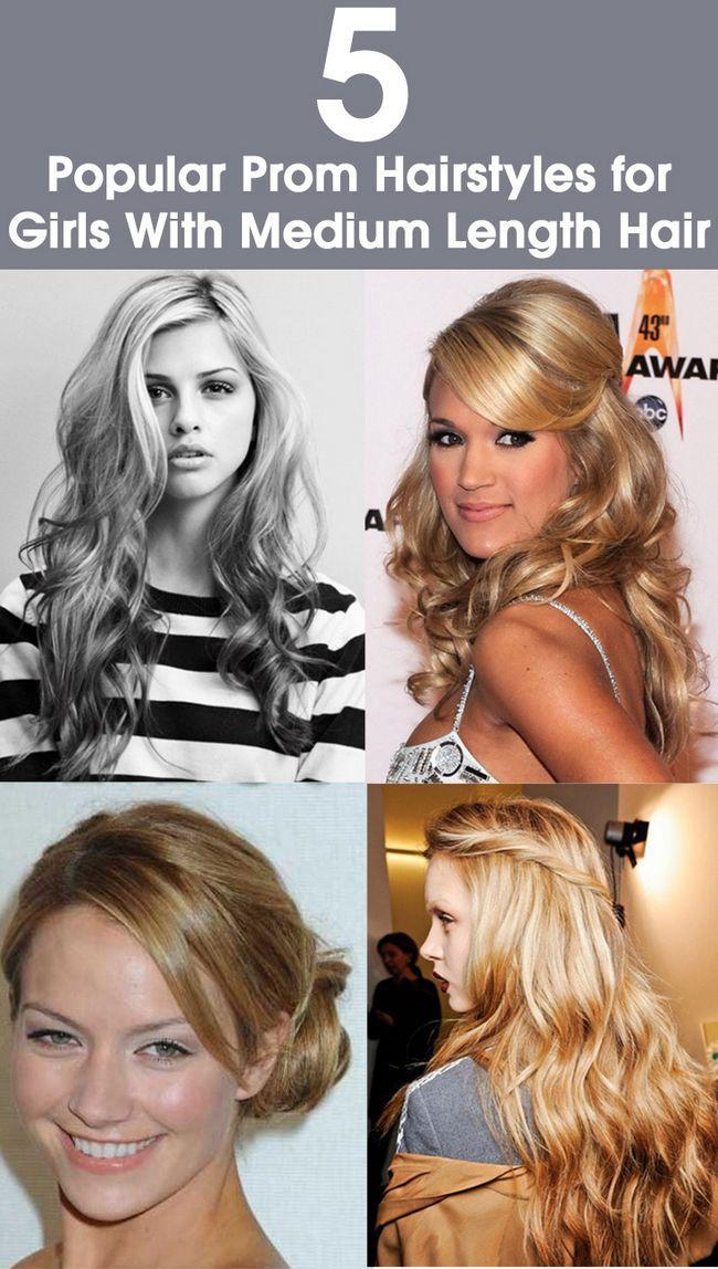 14 Beliebte Prom Frisuren für Mädchen mit mittellanges Haar