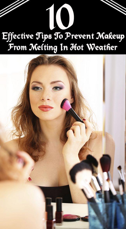 15 Wirksame Tipps Make-up zu verhindern, dass bei heißem Wetter schmelzen