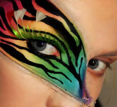 17 Tier inspirierte kreativ Make-up Looks
