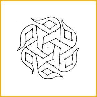 20 Top rangoli Designs mit Punkten für Diwali 2015