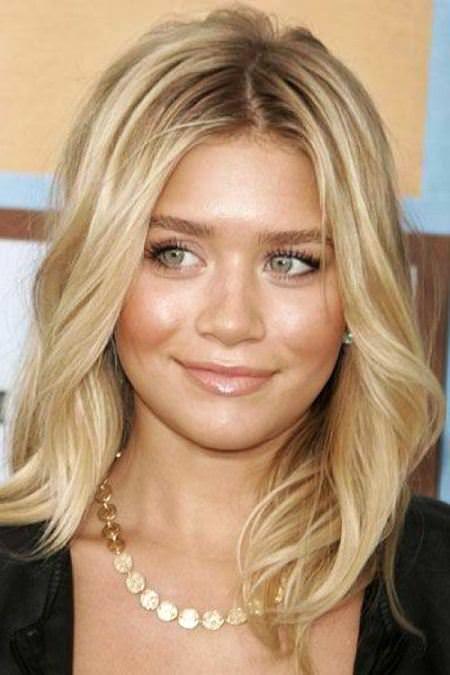 20 Leicht Medium Frisuren für runde Gesichter