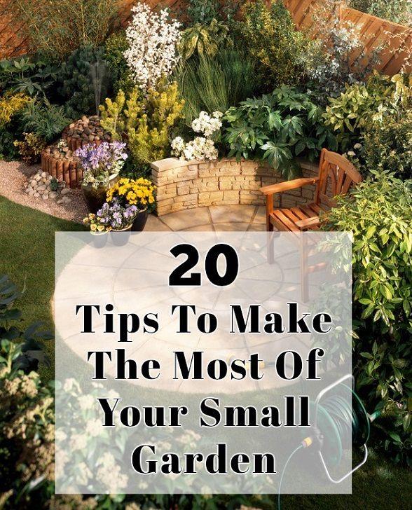 20 Tipps, um das Beste aus Ihrem kleinen Garten zu machen