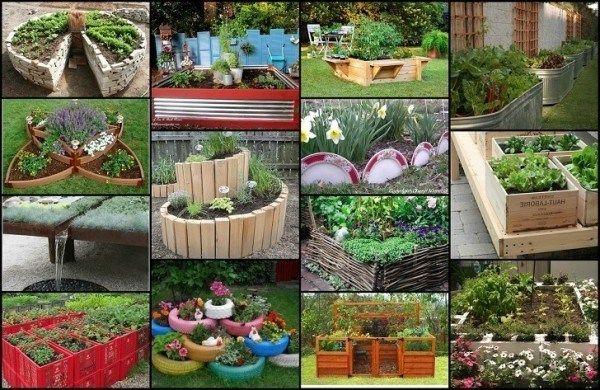 20 Unique & Spaß zur Schau getragenen Garten Bett Ideen