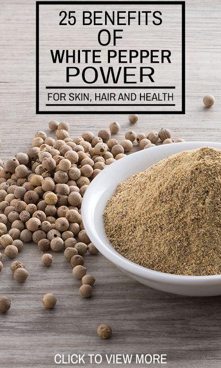 25 Erstaunliche Vorteile von weißen Pfeffer (safed mirch) Pulver für Haut, Haare und Gesundheit
