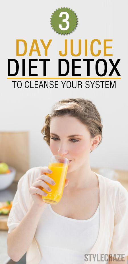 3-Tage-Saft Detox-Diät Ihr System zu reinigen