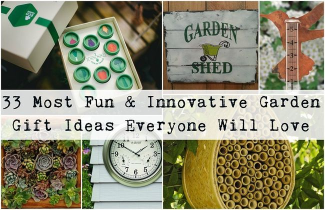 33 Die meisten Spaß & innovative Garten Geschenkideen jeder Gärtner lieben