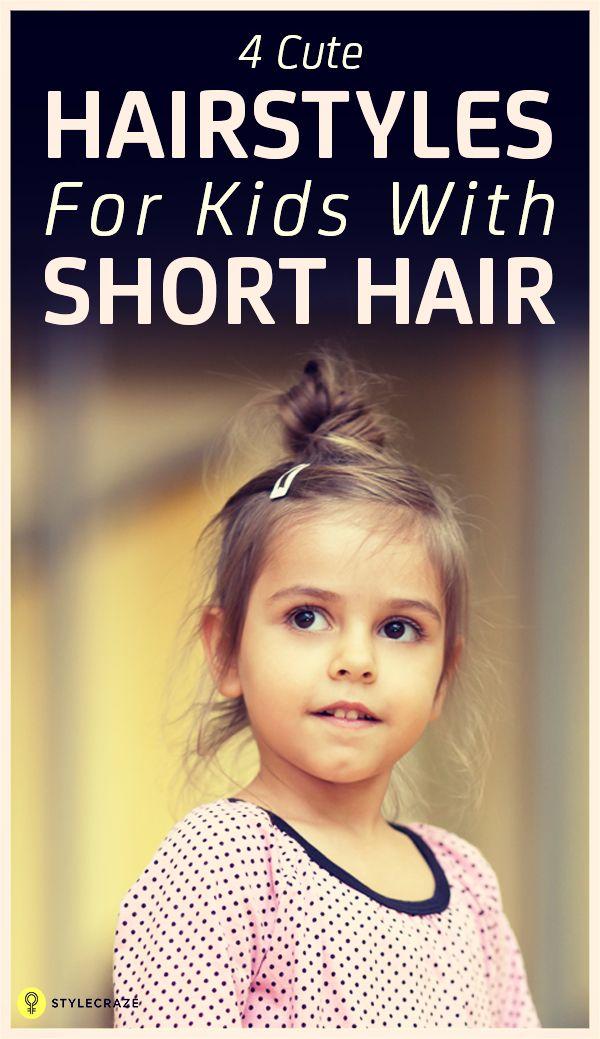 4 Einfache Frisuren für Kinder mit kurzen Haaren