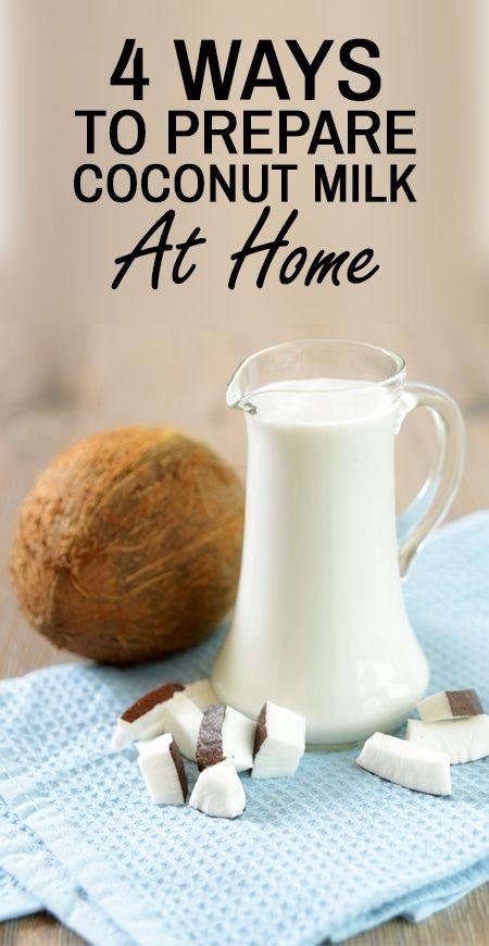 4 Einfache Möglichkeiten Kokosmilch zu Hause vorbereiten