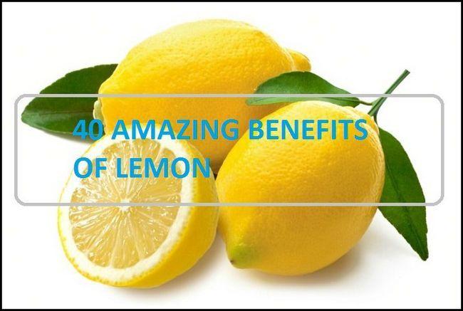 40 Erstaunliche Vorteile und Nutzen von Zitronensaft und Zitronenwasser