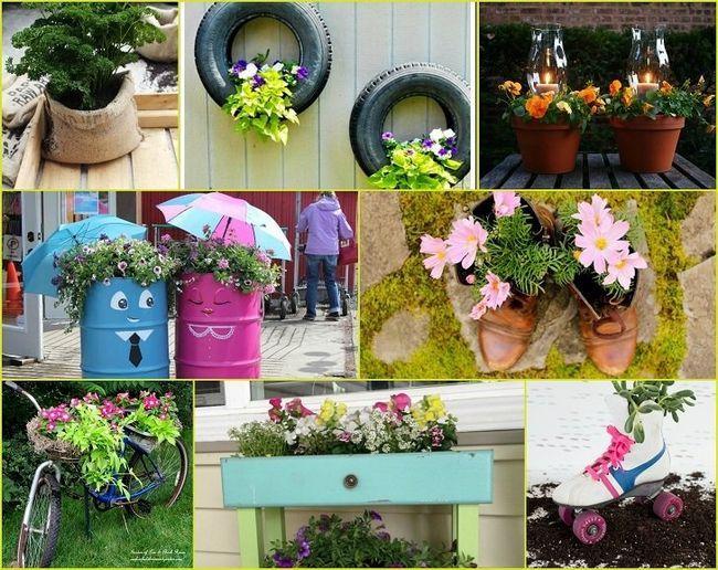 40 Erfindeheimwerkerartikel Garten Pflanzer, die Ihren Garten verwandeln