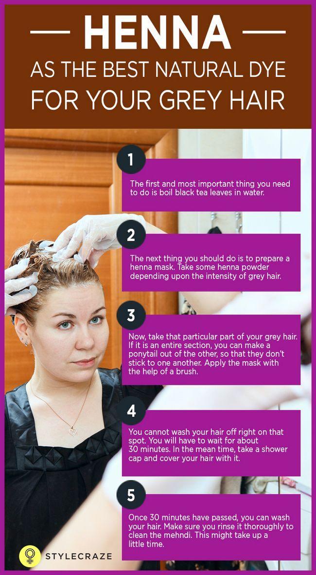 5 Grundlegende Schritte Henna für graues Haar anwenden