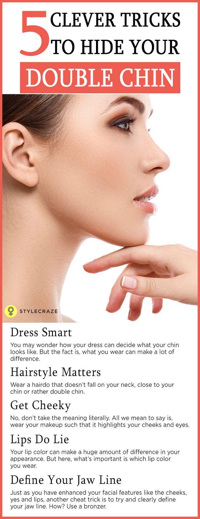 5 Clever Make-up Tricks, um Ihr Doppelkinn verstecken
