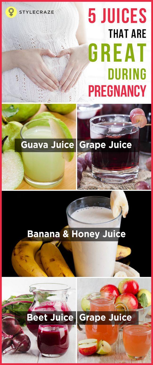 5 Gesunde Fruchtsäfte während der Schwangerschaft zu nehmen