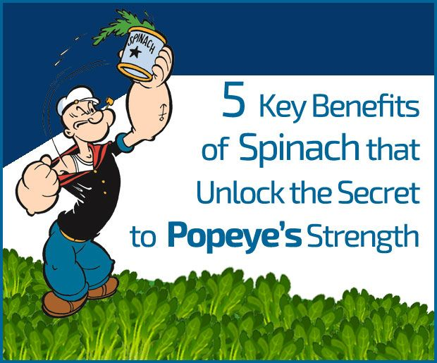 5 Die wichtigsten Vorteile von Spinat, die das Geheimnis zu Popeye Stärke entsperren