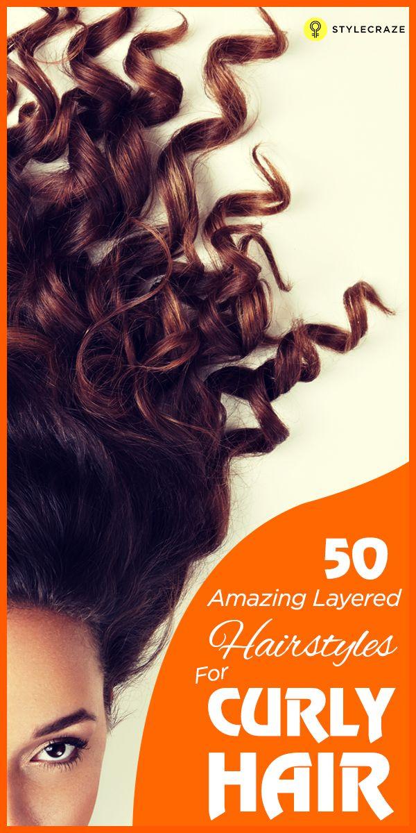 50 Erstaunlich geschichtete Frisuren für lockiges Haar