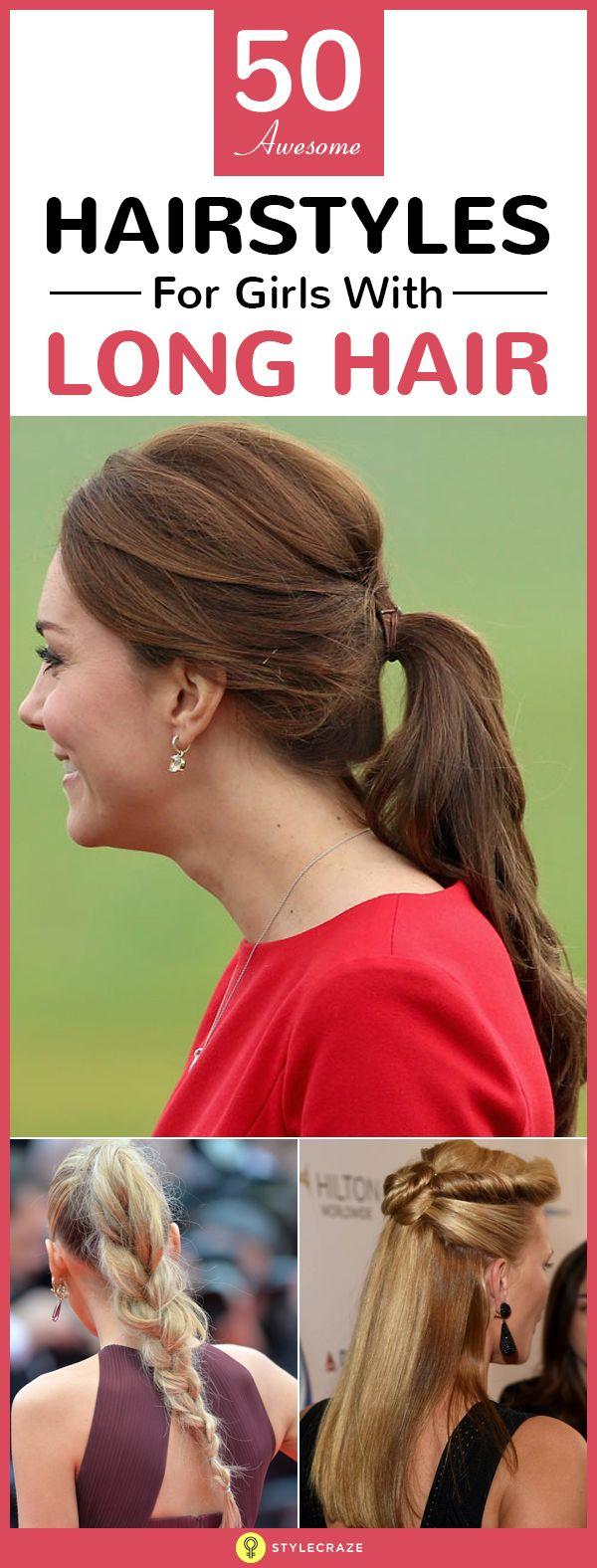 50 Ehrfürchtige Frisuren für Mädchen mit langen Haaren