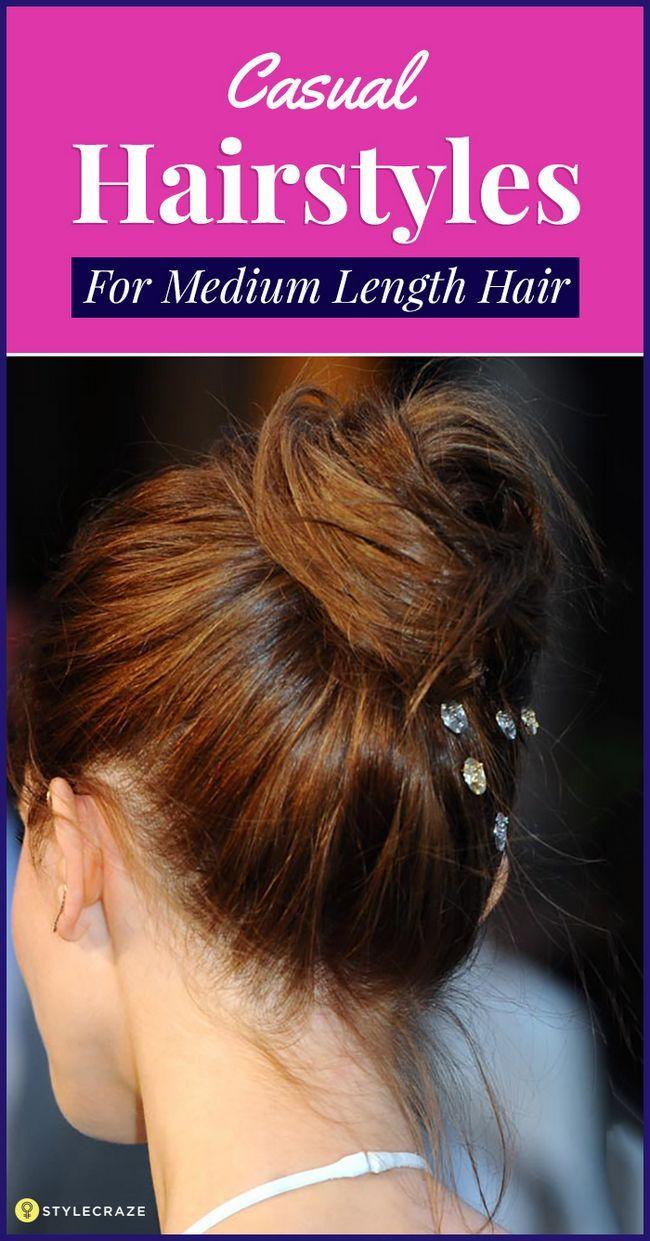 50 Beiläufiges Frisuren für mittellanges Haar