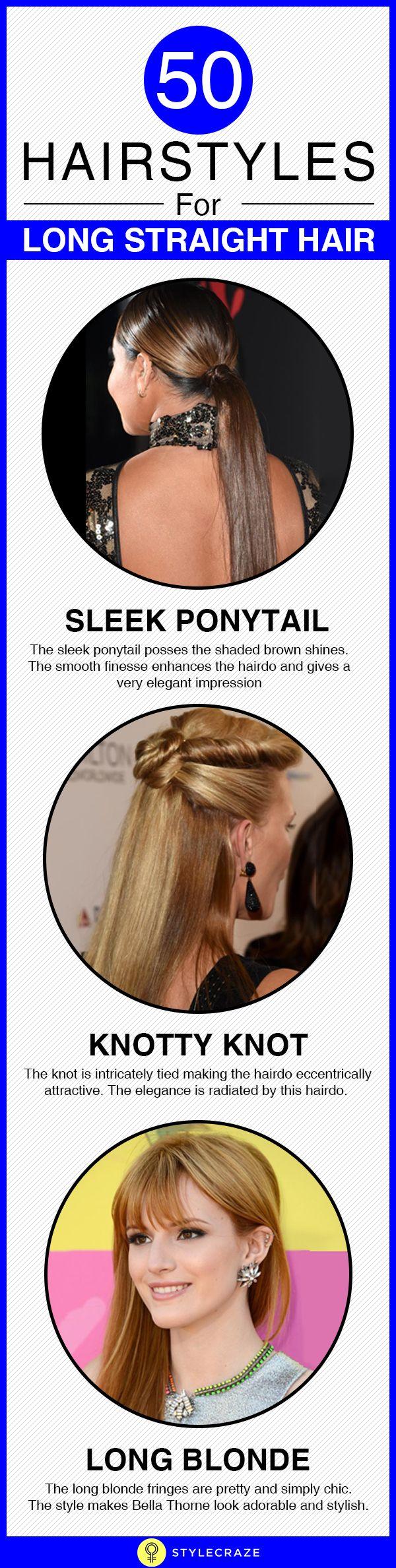 50 Frisuren für lange glattes Haar