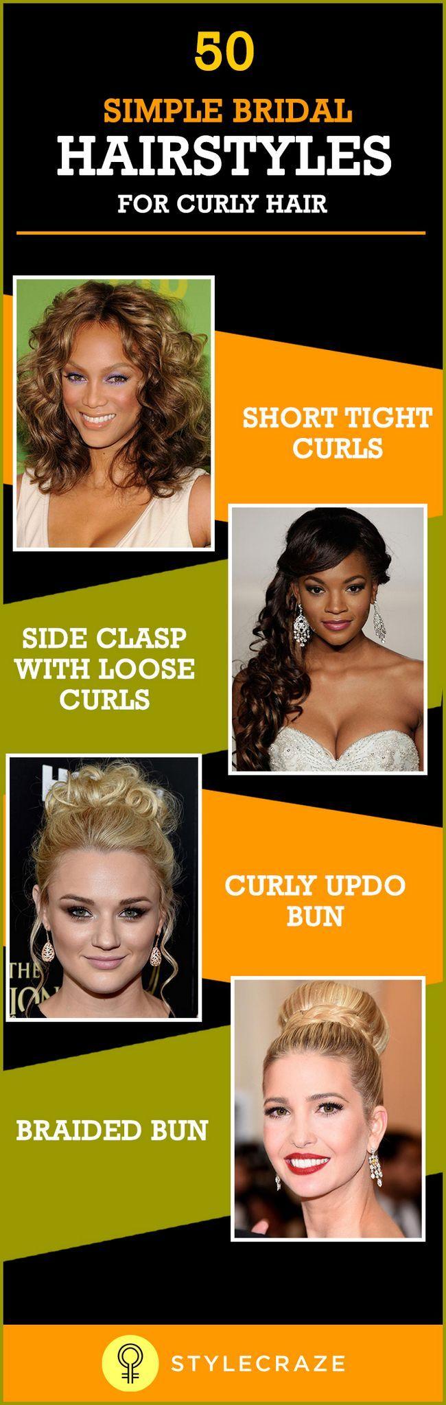 50 Einfache Braut-Frisuren für lockiges Haar