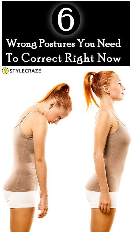 6 Bad Haltungen, die Ihre Gesundheit ruinieren und wie sie korrigieren