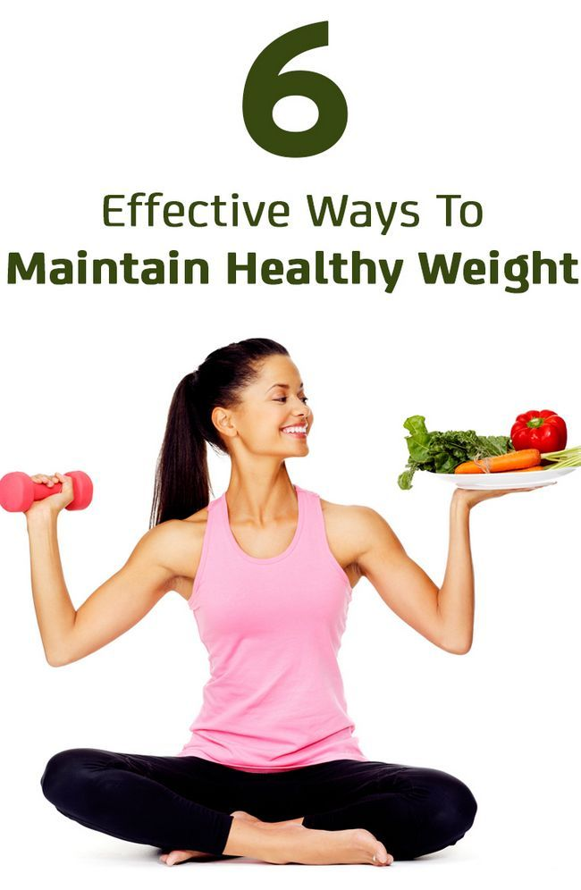 6 Effektive Möglichkeiten gesundes Gewicht zu halten