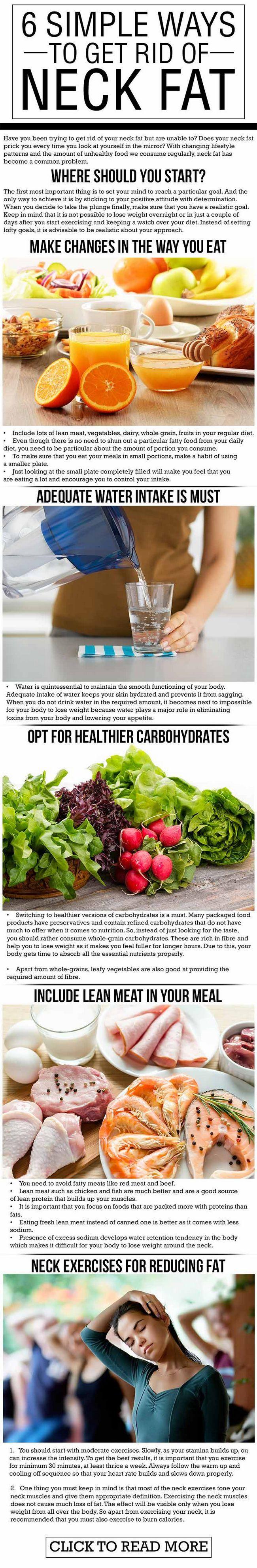 6 Einfache Möglichkeiten, loszuwerden Hals Fett zu