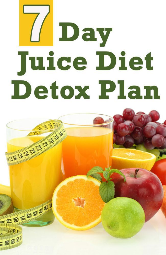 7-Tage-Saft-Diät Detox-Plan