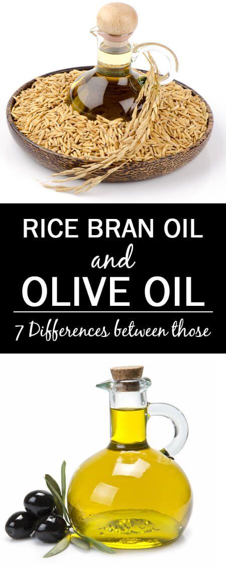 7 Unterschiede zwischen Reiskleieöl und Olivenöl
