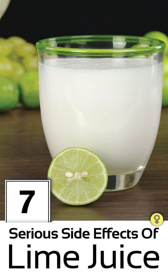 7 Schwerwiegende Nebenwirkungen von Limonensaft