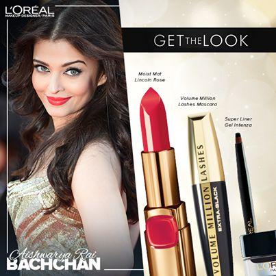 Aishwarya Rai die 5-Outfits und Make-up aussieht: cannes 2014