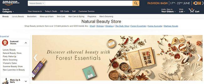 Amazon natürliche Schönheit zu speichern: Bewertung, streckte