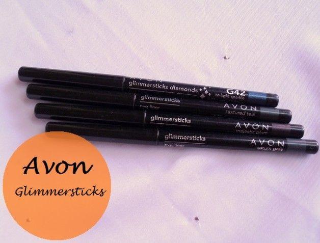 Avon glimmersticks Eyeliner Bewertung und Muster: texturierten aquamarin, majestätisch Pflaume, saturn grau, Twilight Sparkle (Diamant)